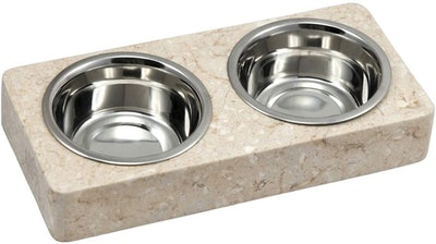 Creative Home Champagne Pet Double Dish