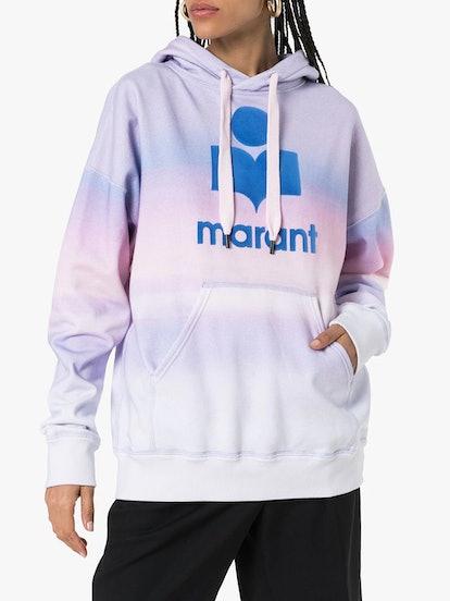 Mansel tie dye logo jersey hoodie