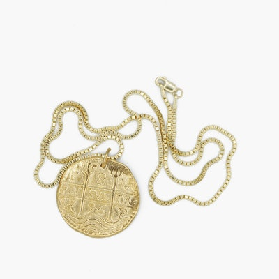 Charlotte Caywe Studio Coin Medallion Necklace