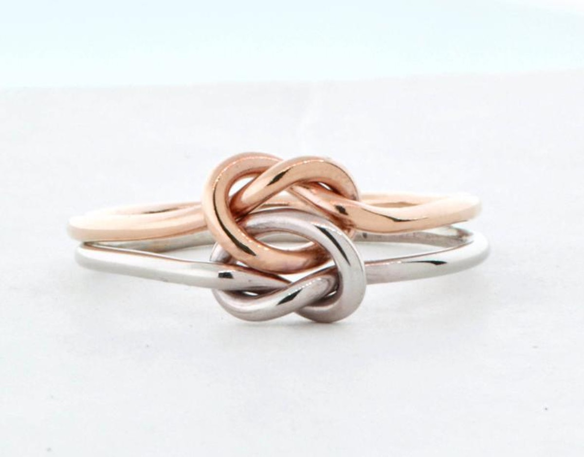 14K Gold Double Love Knot Ring