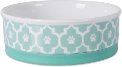 Bone Dry Lattice Ceramic Pet Bowl