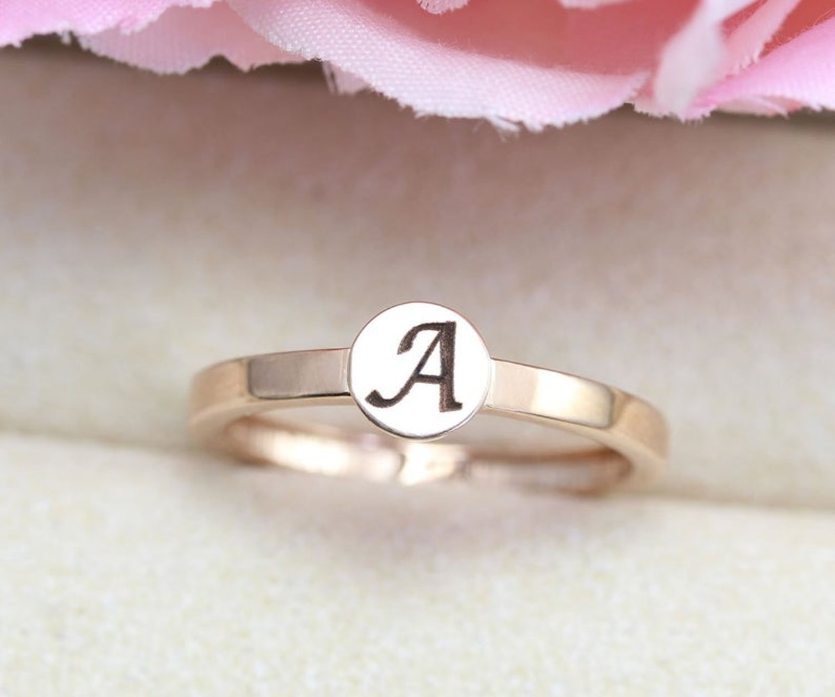 Engraved Initial Promise Ring