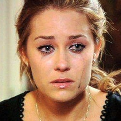 Lauren Conrad from The Hills cries with mascara running down her face. This article explains reasons crying is good for your health.