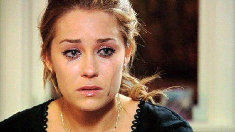 Lauren Conrad from The Hills cries with mascara running down her face. This article explains reasons...