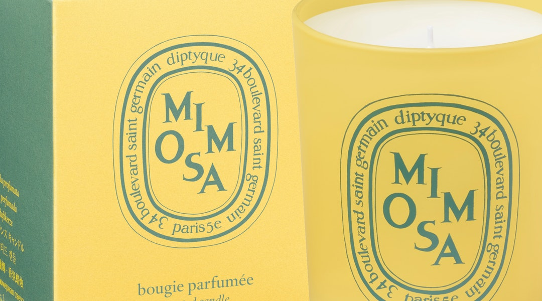 Mimosa candle from diptyque's Coloring Spring collection.