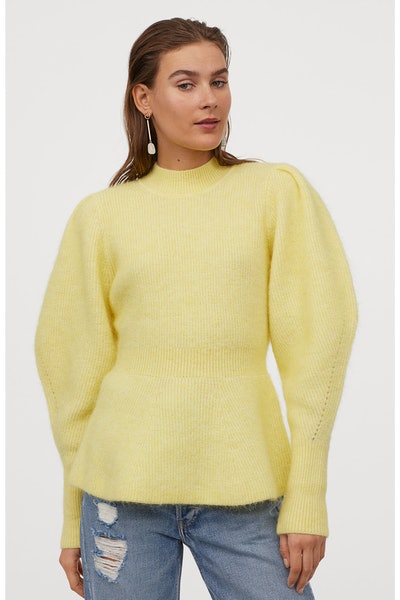 H&M Wool-Blend Peplum Sweater