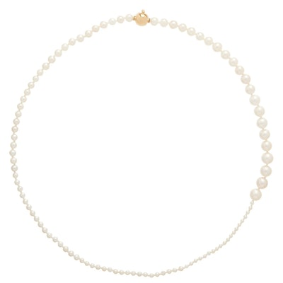 Sophie Bille Brahe Petit Peggy Pearl $ 14kt Gold Necklace