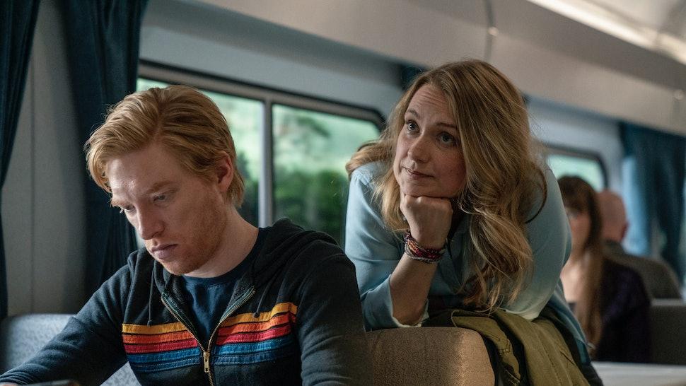 Domhnall Gleeson and Merritt Wever in 'Run' on HBO