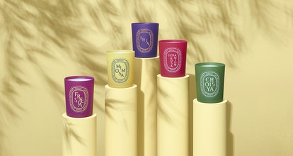 All five candles from diptyque's Coloring Spring collection.