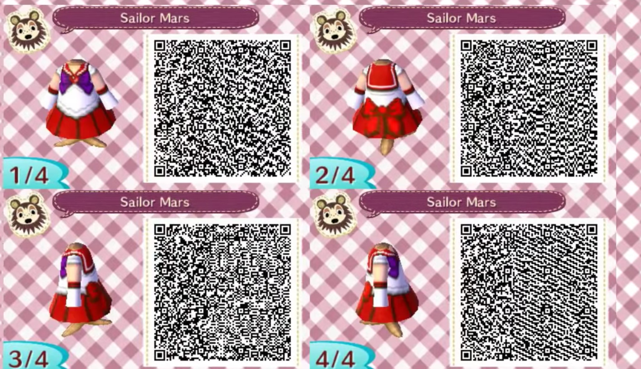 Animal Crossing New Horizons Designs 10 Qr Codes For Sailor