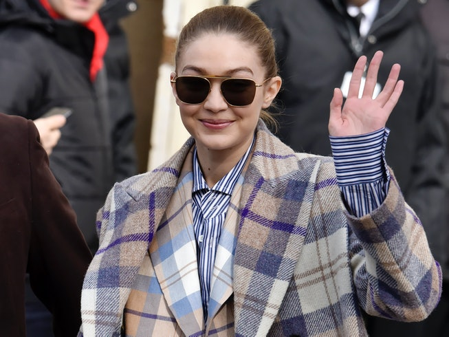 Gigi Hadid attends the Chanel show as part of the Paris Fashion Week Womenswear Fall/Winter 2020/2021 on March 03, 2020 in Paris, France.