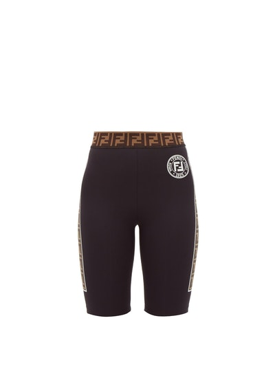 FF Logo-Stripe Cycling Shorts