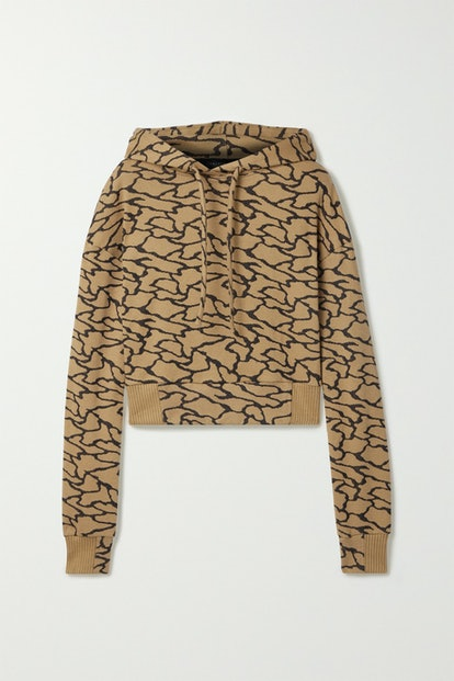 Hyper Reality Jacquard Cropped Hoodie