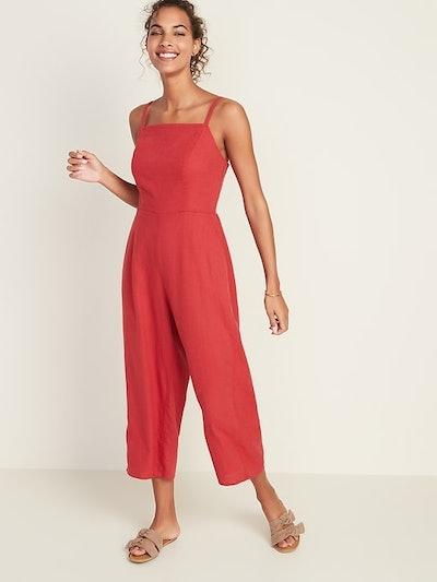 Old Navy Linen-Blend Cami Jumpsuit
