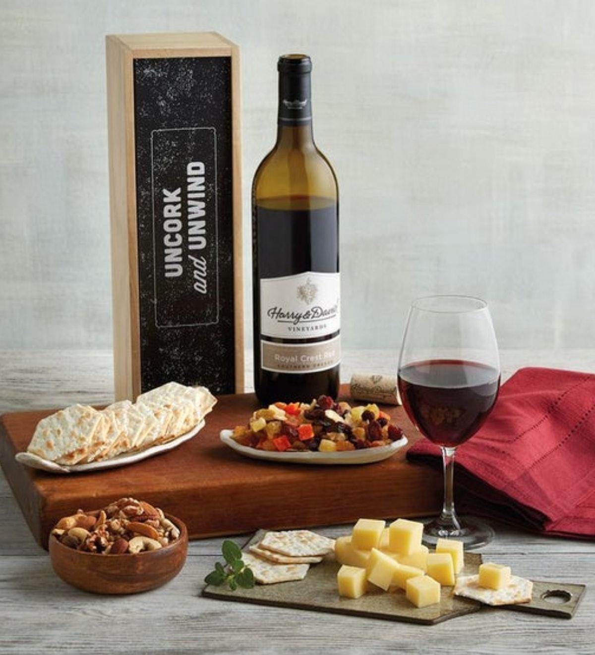 """""""Uncork and Unwind"""" Wine Gift Box"""