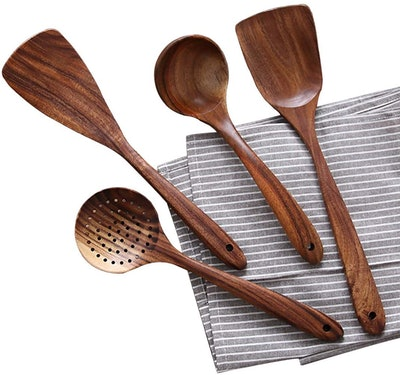 NAYAHOSE Wooden Cooking Utensils (4-Piece Set)
