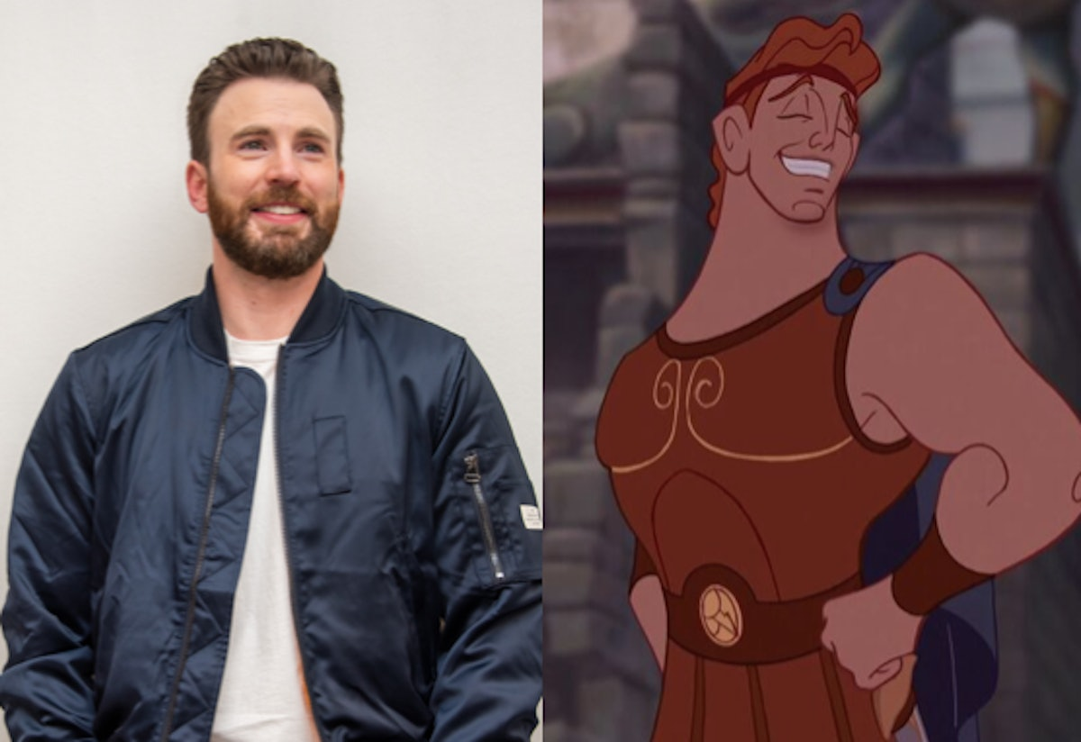 Chris Evans and the animated Hercules