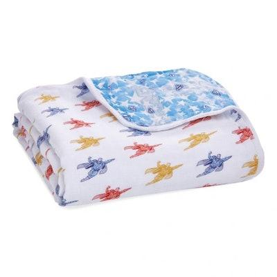 superman™ essentials cotton muslin dream blanket