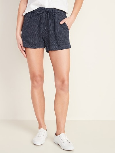 Old Navy Mid-Rise Linen-Blend Shorts