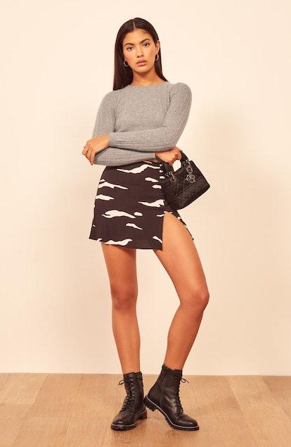 Cashmere & Wool Crop Sweater
