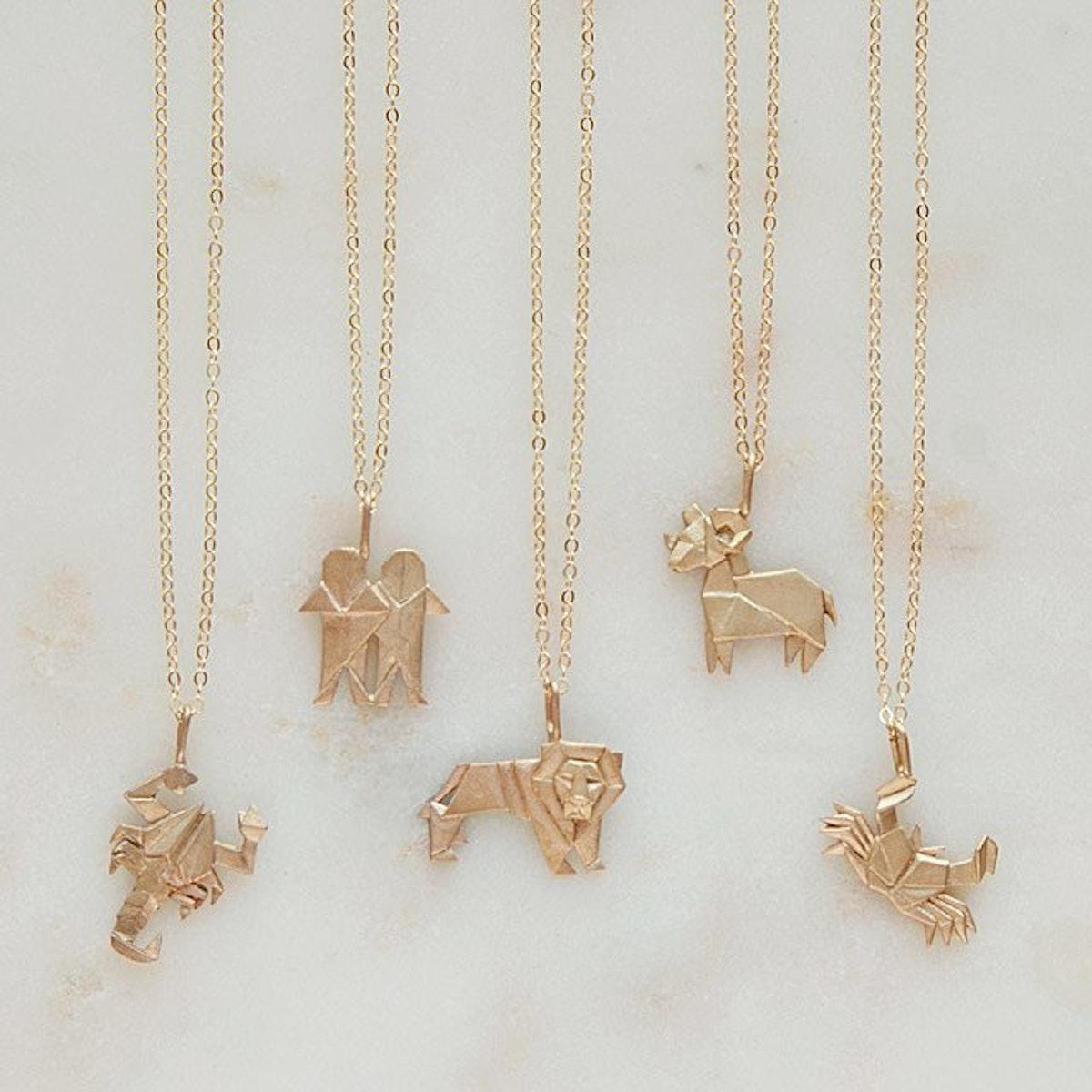 Uncommon Goods Origami Zodiac Necklaces