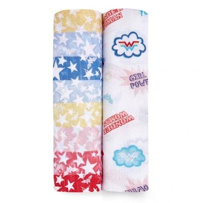 wonder woman™ essentials cotton muslin swaddle 2-pack