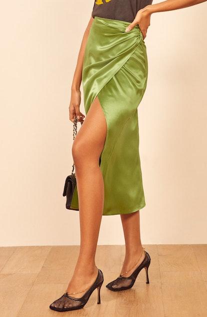 Sabine Silk Midi Skirt