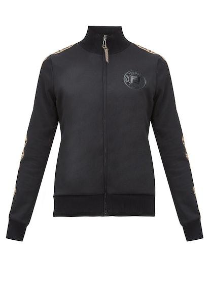 FF Logo-Trimmed Technical Jersey Track Jacket