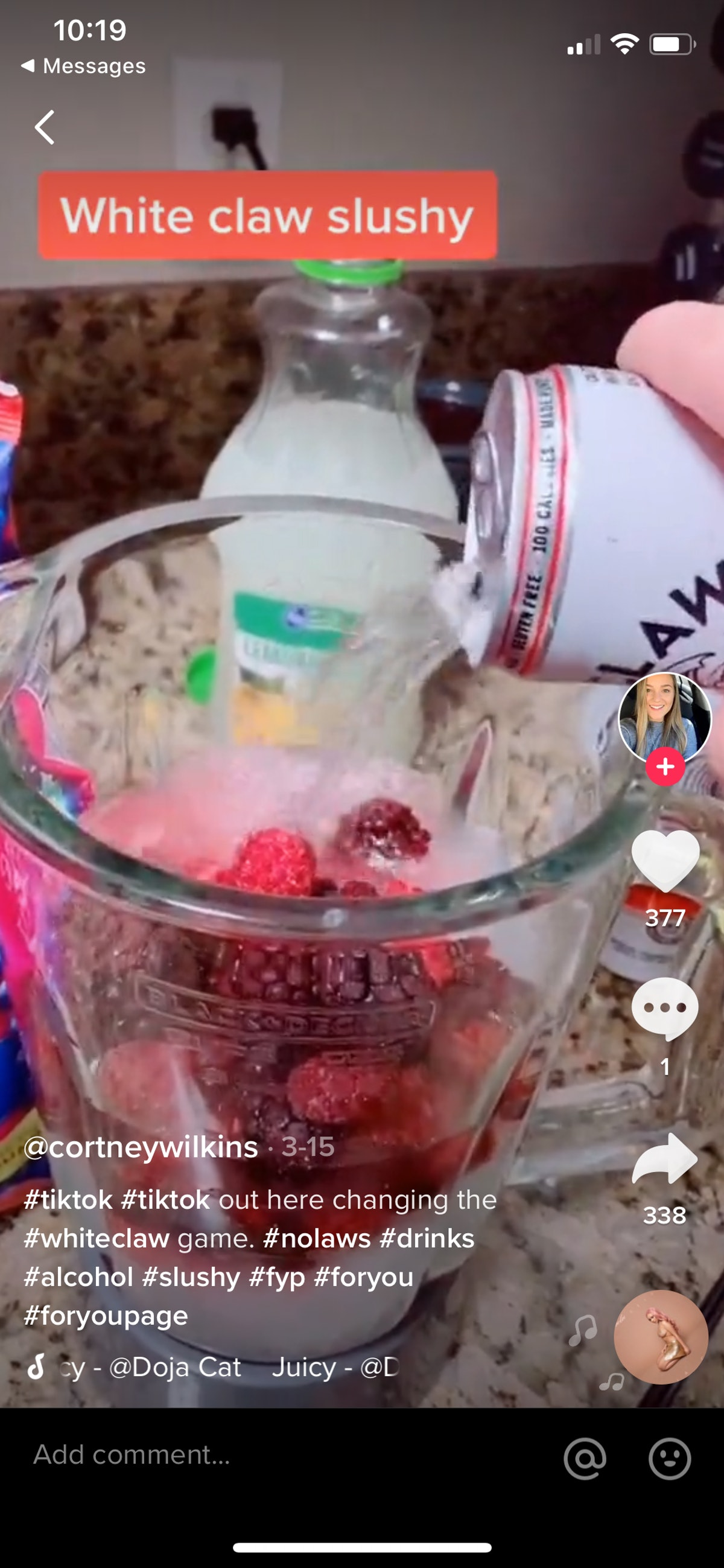 Here's how to make White Claw slushies.