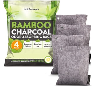BASIC CONCEPTS Bamboo Charcoal Air Purifying Bags (4 Pack)