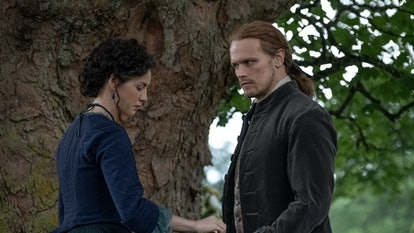 Brianna and Roger stay in the past on Outlander.