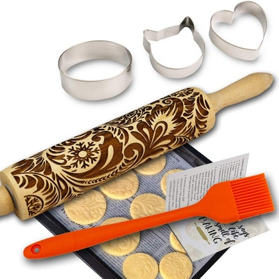 Big Role Paisley Embossed Rolling Pin