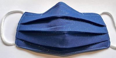 Sparkle of Elegance Royal Blue Glitz Face Mask