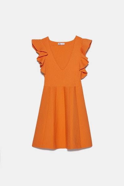 Ruffled Knit Dress