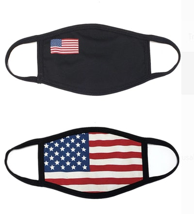 PRO MC 4Pcs USA Flag Print Unisex Face Mask