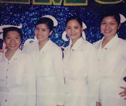 The nursing graduation ceremony at University of the Assumption in San Fernando, Pampanga. Diana is ...