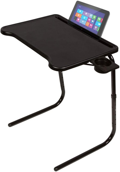 Table Mate Ultra Folding TV Tray Table and Cup Holder