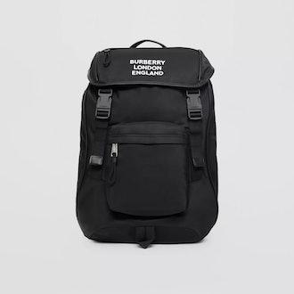 Logo Print Econyl Backpack