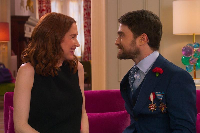 Ellie Kemper and Daniel Radcliffe in Netflix's 'Unbreakable Kimmy Schmidt' movie, 'Kimmy vs. the Reverend'