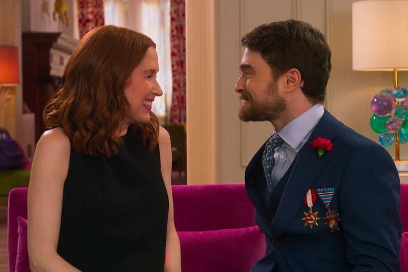 Ellie Kemper and Daniel Radcliffe in Netflix's 'Unbreakable Kimmy Schmidt' movie, 'Kimmy vs. the Rev...