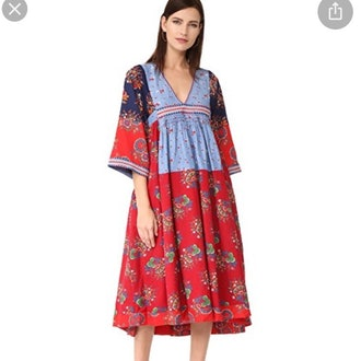 Milena Embroidered Floral Midi Dress