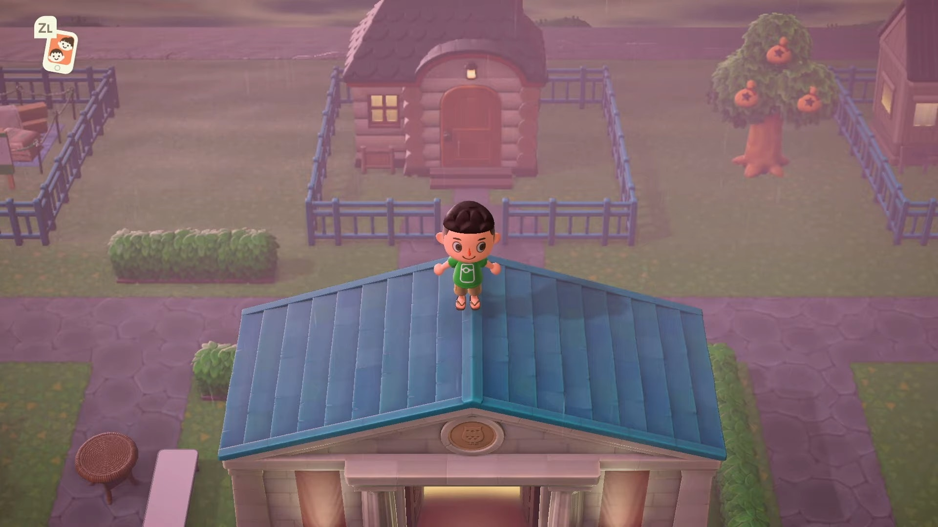 Animal Crossing Glitch How To Decorate Roofs High Ground Walk On Water