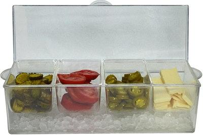 Oaklyn Clear Condiment Server