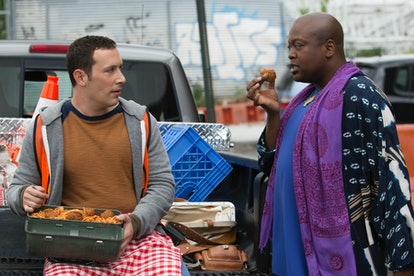 Mike Carlsen as Mikey Politano & Tituss Burgess as Titus Andromedon in 'Unbreakable Kimmy Schmidt'