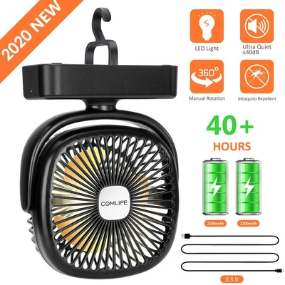 ComLife Portable LED Lantern with Tent Fan