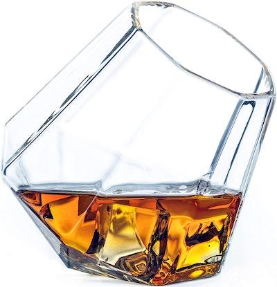 Dragon Glassware Diamond Whiskey Glasses Set (Set Of 2)