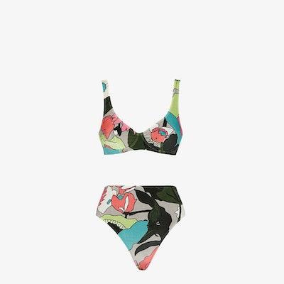 Multicolor chenille bikini