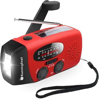 Running Snail Emergency Hand-Crank Solar Radio