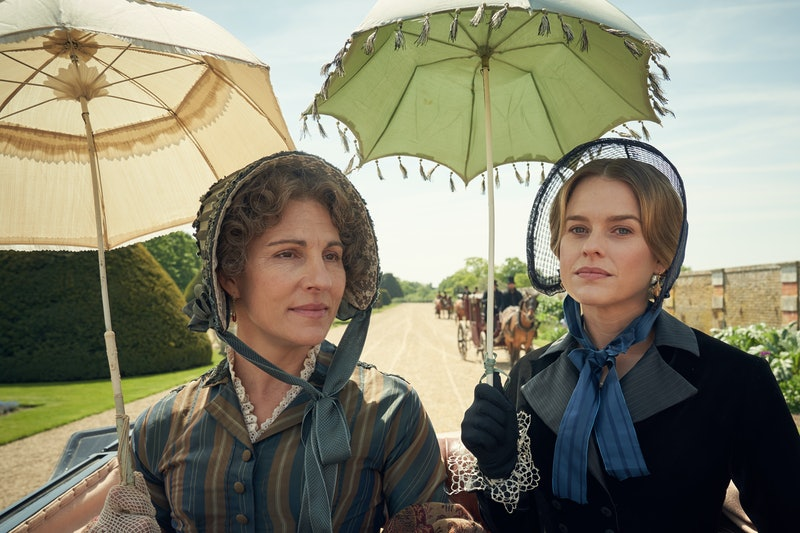 Tamsin Greig and Alice Eve in 'Belgravia'