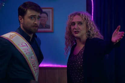 Daniel Radcliffe and Carol Kane in the 'Unbreakable Kimmy Schmidt' movie, 'Kimmy vs. the Reverend.'